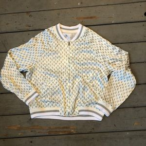 Anthropologie Tiny Editions Silky Bomber Jacket